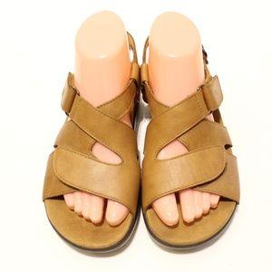 SAS Huggy Cross Strap Sandals Caramel Shoes Tripad